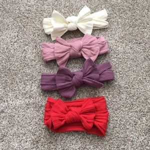 Baby bling cable knit bows